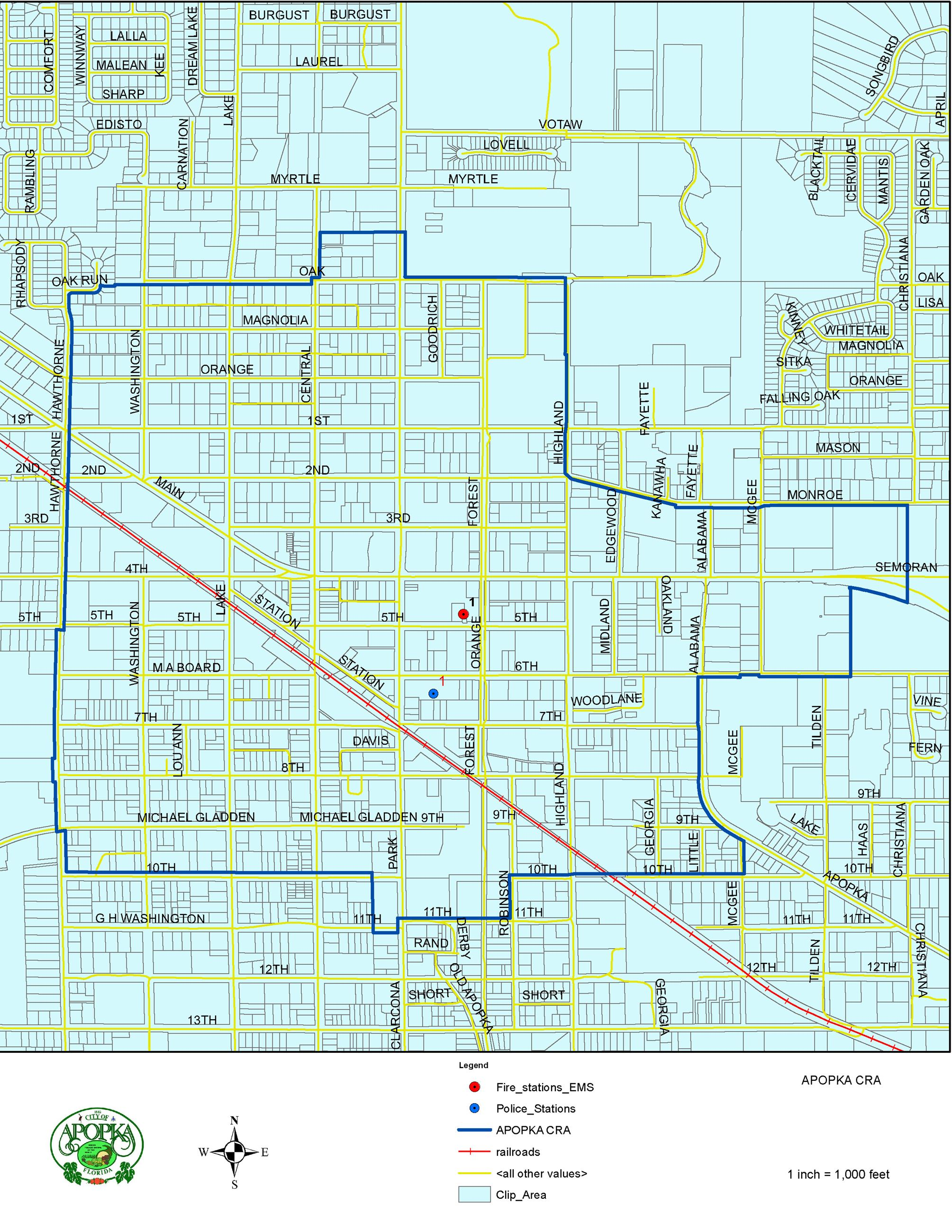 APOPKA Community Redevelopment Agency Map